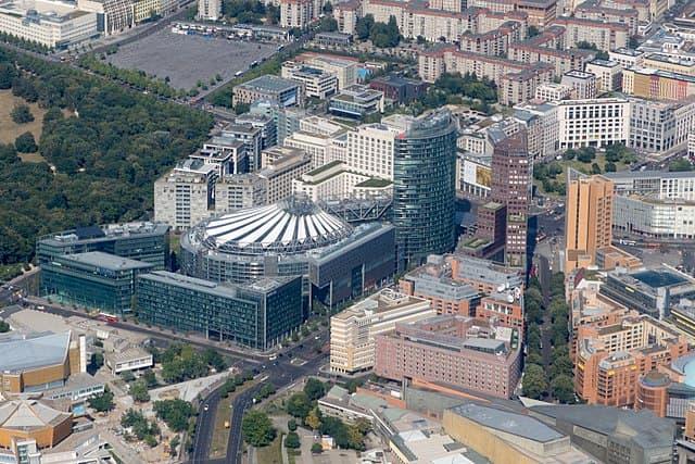 Potsdamer Platz nhìn từ trên cao